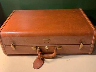 Vintage leather Samsonite Suitcase 2D