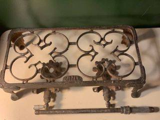 Antique Cast Iron Gas Grill 1A