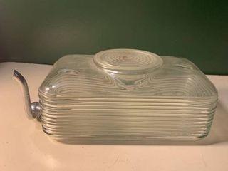 Antique Glass Refrigerator Water Dispenser With Spigot 1A