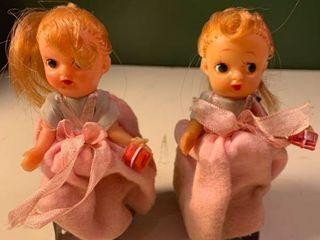 Pair of Vintage Wind Up Dolls 1C
