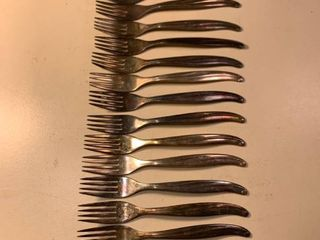 lot of 17 TWA Stainless Forks 1C