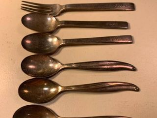 lot of 5 TWA Stainless Spoons and 1 Fork 1C