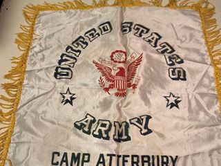 United States Army Camp Atterbury Banner Pillow Cover 2C