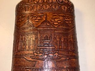 Antique leather Flask With Cork 2B