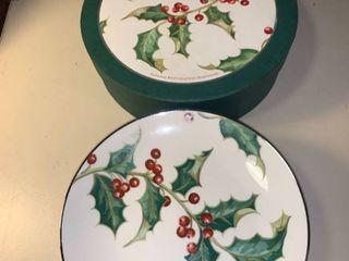 Set of 6 Restoration Hardware Holly Plates 2B