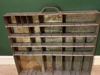 Vintage Metal Drawer Display Shelf 1D