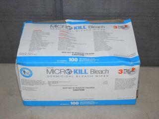 100 Micro Kill Bleach Germicidal Bleach Wipes   Individually Packaged