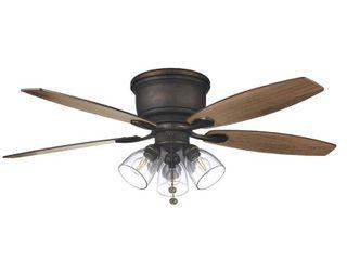 Hampton Bay Stoneridge Ceiling Fan   No Original Box   52