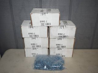 7 Boxes Blue Decorative Cut Glass Crushed - 2.5 pounds each