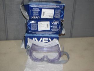 3 Pairs Honeywell UVEX Safety Goggles