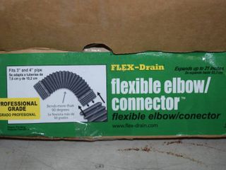 "10 Flex Drain Flexible Elbows 3"" and 4"" Pipe"