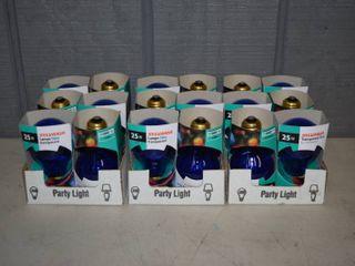 18 Sylvania 25W Blue Party light Bulbs