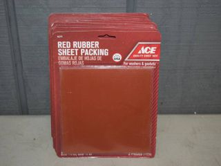 10 Packages Red Rubber Sheet Packing