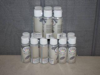 12 Bottles Testers Craft Paint Metallic Hazey