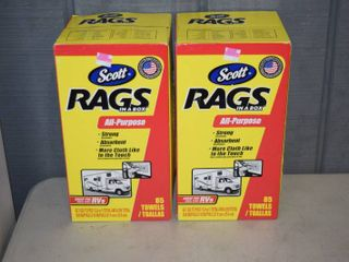 2 Boxes Scotts Rags-in-A-Box 85 count