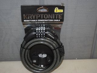Kryptonite Resettable Combination Cable 6' x 12mm