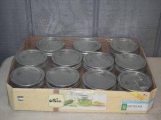 11 Half Pint Wide Mouth Mason Jars