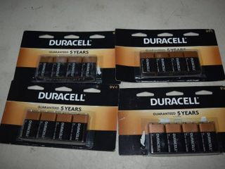 12 Duracell 9V Batteries