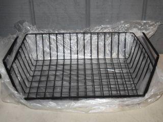4 Under Shelf Wire Baskets 15  x 10  x 4