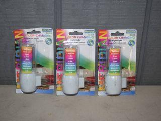 3 Color Changing lED Night lights