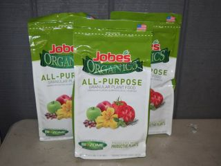 3 Bags Jobes Organic All-Purpose Plant Food 4 Pounds