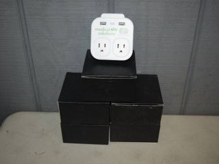 5 Console Wall Charger + Phone Holder - Has night Light - will charge 2 iPhones at one time