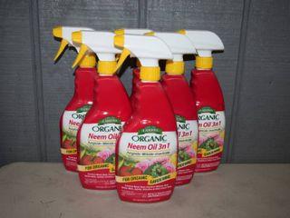 6 Bottles Organic Neem Oil 3 in 1