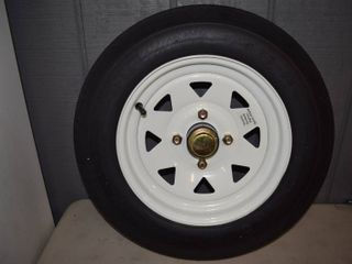 "Journey 4.80 x 12"" Trailer Tire and Wheel with Hub"