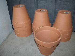 11 Terra Cotta Flower Pots 8 3