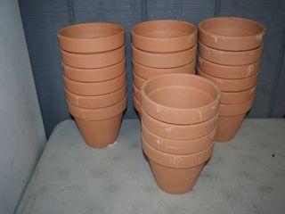 22 Terra Cotta Flower Pots 6 3