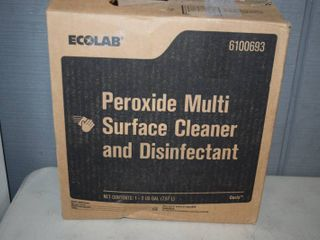 2 Gallons Ecolab Peroxide Multi-Surface Cleaner and Disinfectant