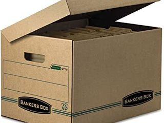 12 Bankers Boxes File Storage with Flip top lid