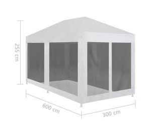 VidaXl Party Tent with 6 Mesh Sidewalls   10  x 20  x 8  tall
