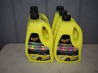 6 Bottles Meguiar's Ultimate Wash and Wax