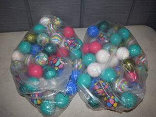 100 Rubber Bouncy Balls