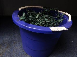 Tub of Clear Christmas light Strands