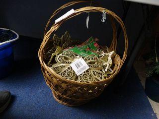 large Basket of Asst large Ornaments