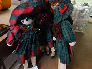 lot of Wood Doll Decor