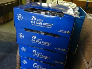 5 New Boxes of large Clear Christmas lights