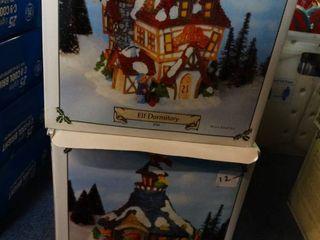 Santa Village Houses  Reindeer Barn  Elf Dormitory