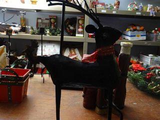 Metal Reindeer Candle Stand