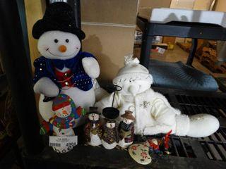 lot of Snowman Decor