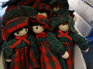 lot of Christmas Dolls