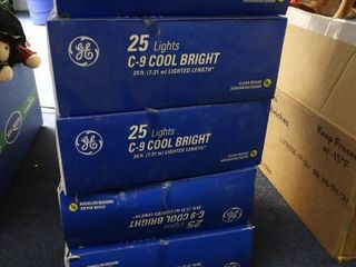 5 Boxes of Clear Christmas lights