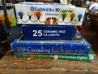 4 Boxes of Asst Christmas lights