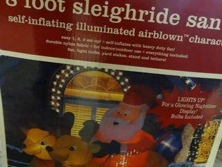 8  Sleighride Santa Inflatable