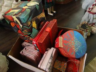 lot of Small Gift Boxes and Tins