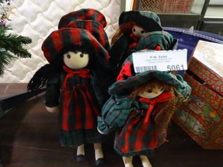 Wood Christmas Dolls