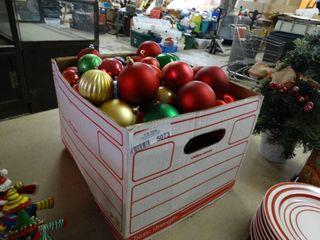 Box of Christmas Bulbs
