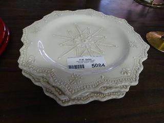 Porcelain Snowflake Plates